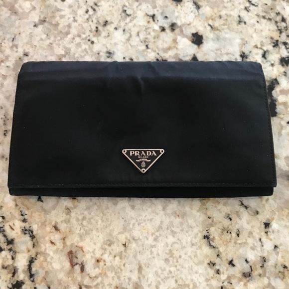 670427c8853e Prada Bags | Nylon And Leather Bifold Wallet | Poshmark